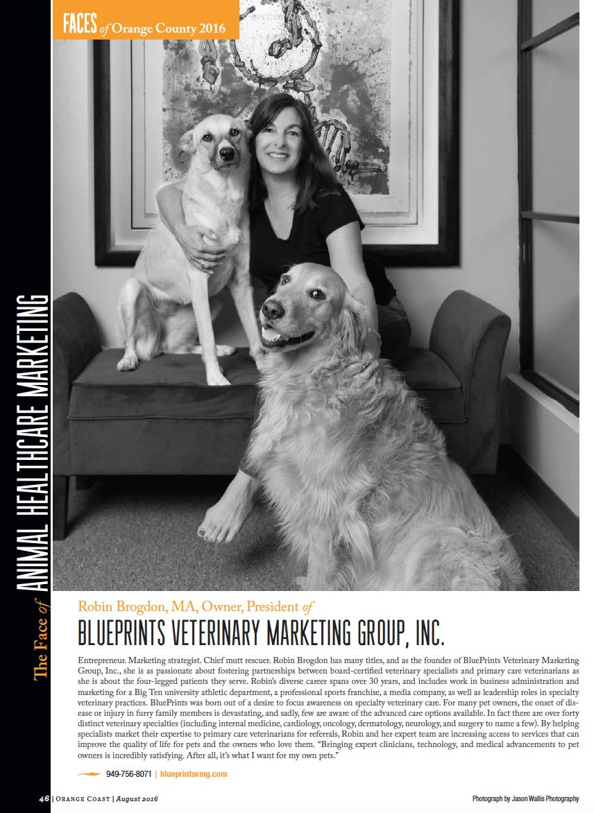 Robin Brogdon in the Faces of Orange County in Orange Coast Magazine